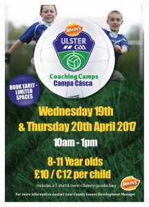 Easter Coaching Camp at RGU Downpatrick