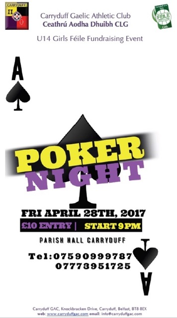 Purchase Tickets For U14 Féile Poker Night