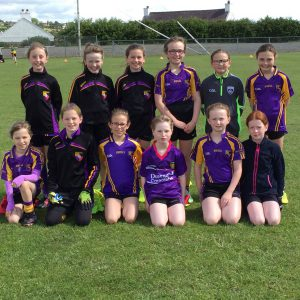 U10 girls in Down Blitz