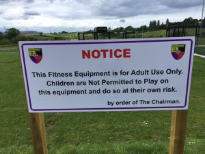 New Notice about Fitness Equipment