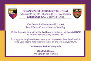 Ladies senior championship final