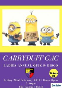 Ladies Quiz night !