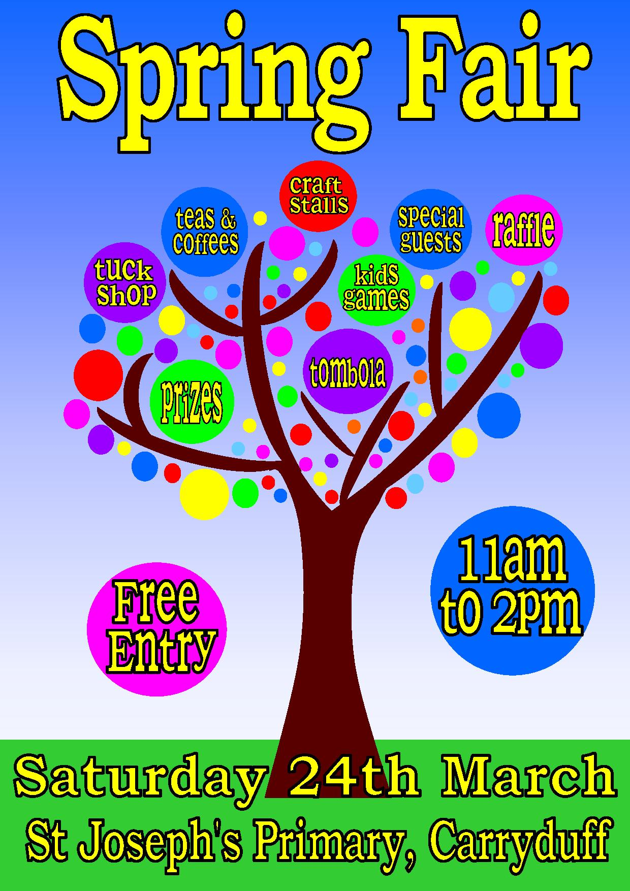 St Josephs Spring Fair 24th March !!