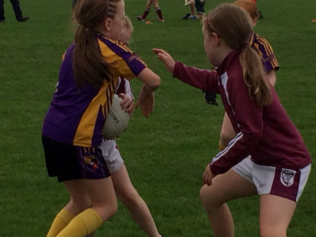 U8 girls welcomed Bredagh to Carryduff