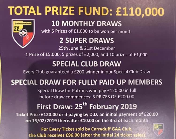 2019 Club Down Draw