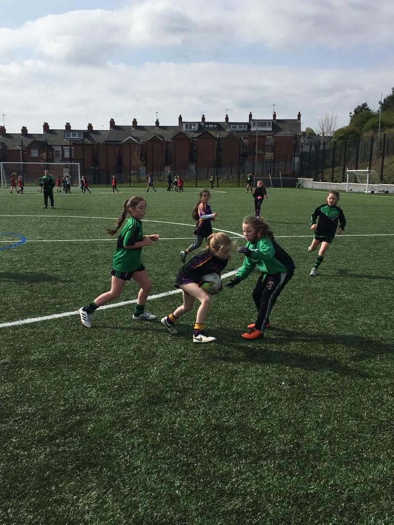 U10 girls travelled to West Belfast