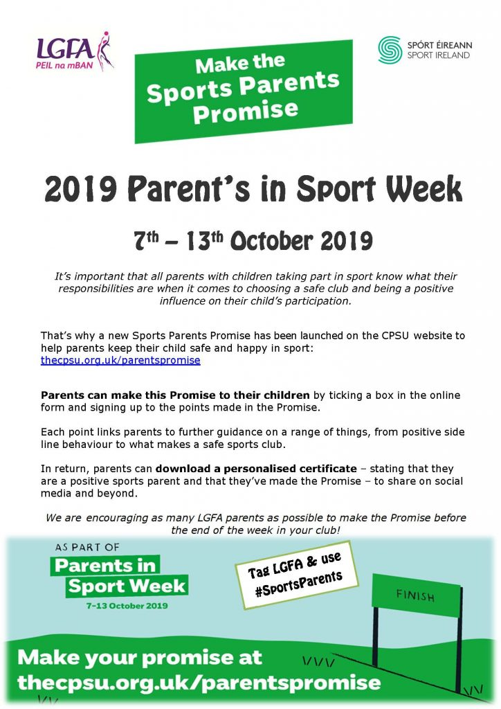 Parents in sports week 2019