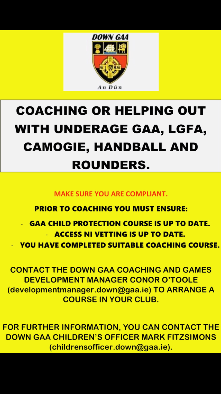 Coaching at any code or age group ?